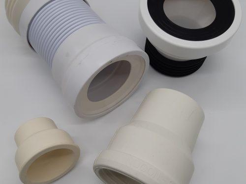 Pan Connectors Flexible, PVC & Offset